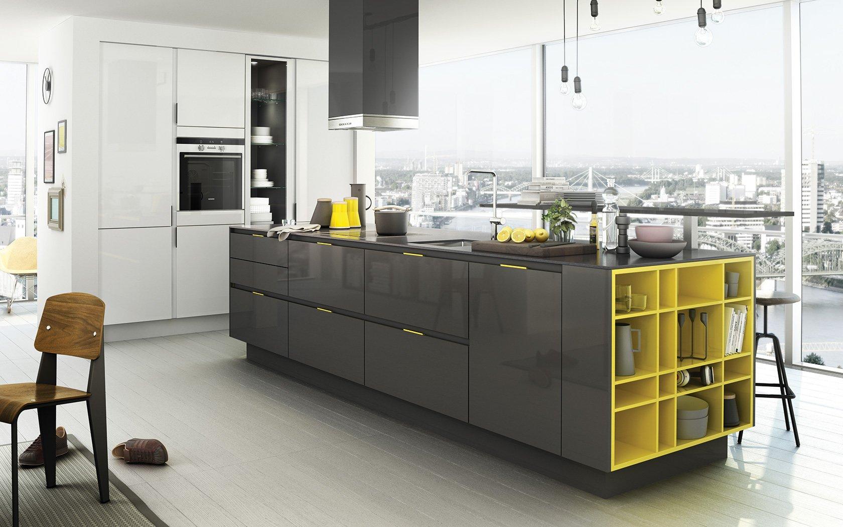 Yellow And Grey Kitchen Astieks Komfort Design Main Page